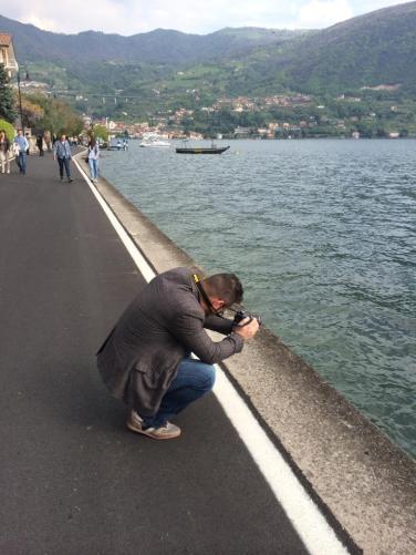 CALOGERO MAZZA mentre fotografa